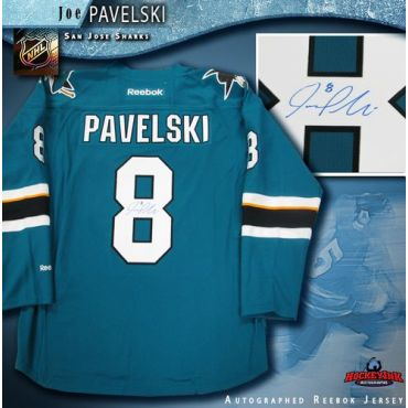 Joe Pavelski San Jose Sharks Autographed Teal Reebok Jersey