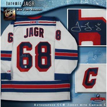 Jaromir Jagr New York Rangers Autographed White CCM Jersey