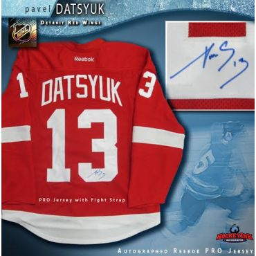 Pavel Datsyuk Detroit Red Wings Autographed Red Reebok Authentic Pro Jersey