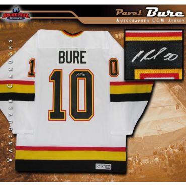 Pavel Bure Vancouver Canucks Autographed White CCM Retro Jersey