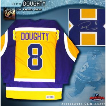 Drew Doughty Los Angeles Kings Autographed Yellow CCM Vintage Throwback Jersey