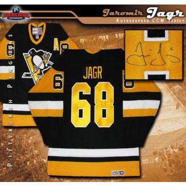 Jaromir Jagr Pittsburgh Penguins Autographed Vintage Black CCM Jersey