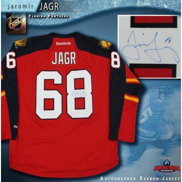 Jaromir Jagr Florida Panthers Autographed Red Reebok Jersey