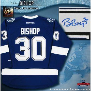 Ben Bishop Autographed Tampa Bay Lightning Blue Reebok Jersey