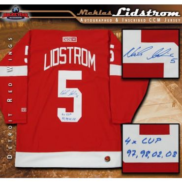 Nicklas Lidstrom Autographed and Inscribed Detroit Red Wings CCM Jersey