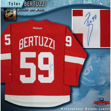 Tyler Bertuzzi Autographed Detroit Red Wings Red Reebok Jersey