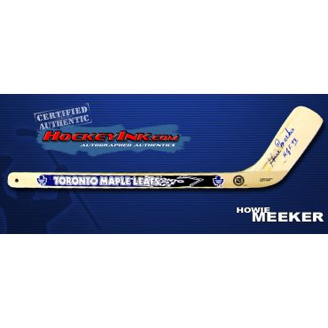 Howie Meeker Autographed Toronto Maple Leafs Mini-Stick