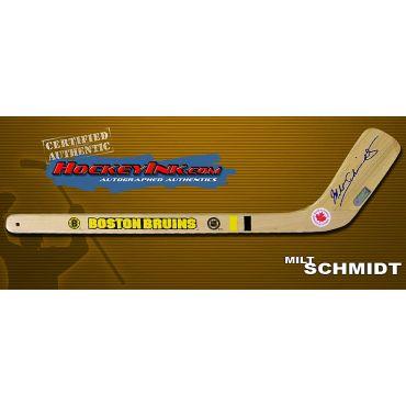 Milt Schmidt Autographed Boston Bruins Mini-Stick