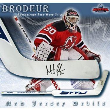 Martin Brodeur New Jersey Devils Autographed Sher-Wood Model Goalie Stick