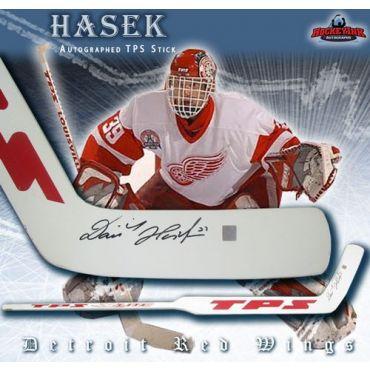 Dominik Hasek Detroit Red Wings TPS Louisville Autographed Stick