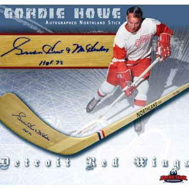Gordie Howe Autographed Vintage Northland Stick