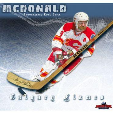 Lanny McDonald Calgary Flames Autographed Koho Model Stick