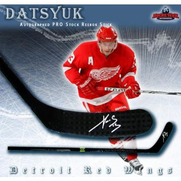 Pavel Datsyuk Detroit Red Wings Autographed PRO STOCK Reebok RIBCOR Composite Stick