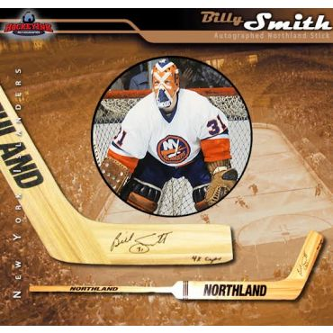 Billy Smith New York Rangers Autographed and Inscribed 4x Cups Northland Goalie Stick