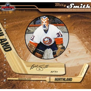 Billy Smith New York Rangers Autographed and Inscribed HOF 93 Northland Goalie Stick