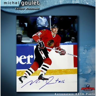 Michel Goulet  Autographed Chicago Blackhawks 8 x 10 Photo