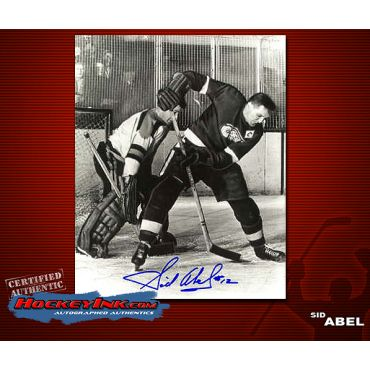 Sid Abel Autographed Detroit Red Wings 8 x 10 Photo