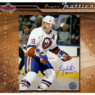 Bryan Trottier Autographed New York Islanders 8 x 10 Photo