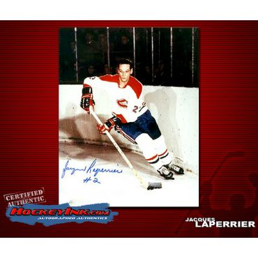 Jacques Laperriere  Autographed Montreal Canadiens 8 x 10 Photo