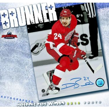 Damien Brunner Detroit Red Wings Autographed 8 x 10 Photo