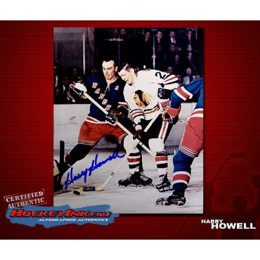 Harry Howell New York Rangers 8 x 10 Autographed Photo