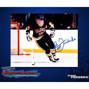 Bernie Federko St Louis Blues Autographed 8 x 10 Photo