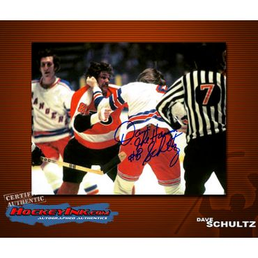 Dave Schultz Philadelphia Flyers Autographed 8 x 10 Photo