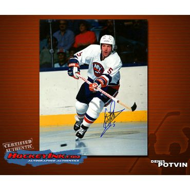 Denis Potvin New York Islanders Autographed 8 x 10 Photo