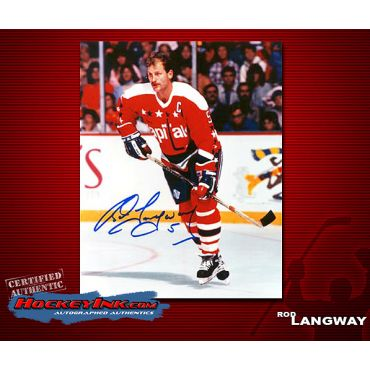 Rod Langway  Washington Capitals Autographed 8 x 10 Photo