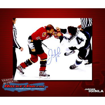 Jarome Iginla  Calgary Flames 8 x 10 Autographed Photo