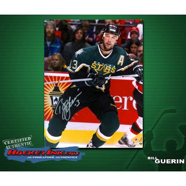 Bill Guerin  Dallas Stars Action 8 x 10 Autographed Photo