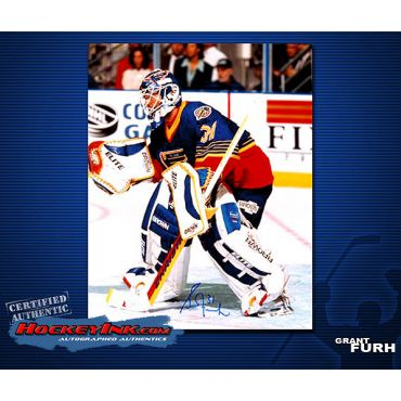 Grant Fuhr St. Louis Blues  8 x 10 Autographed Photo