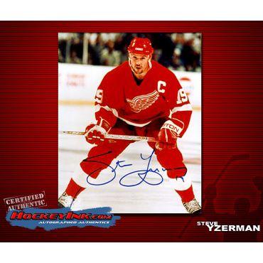Steve Yzerman  8 x 10 Autographed Photo