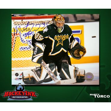 Marty Turco Dallas Stars 8 x 10 Autographed Photo