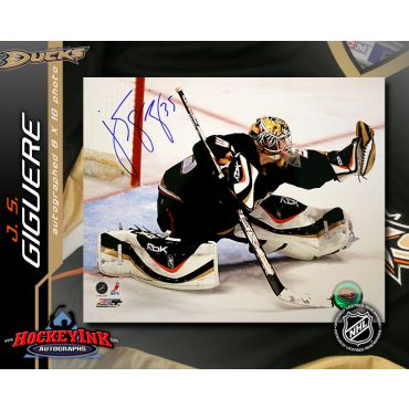 J.S. Giguere Anaheim Ducks 8 x 10 Autographed Photo