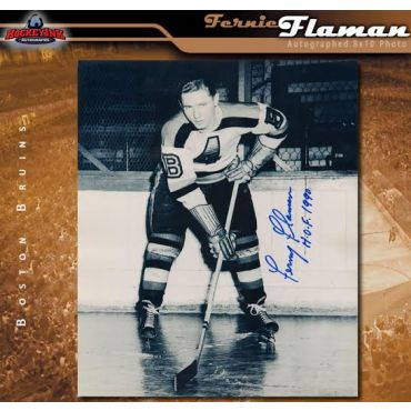 Fernie Flaman Autographed Boston Bruins 8 x 10 Photo