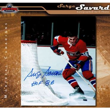 Serge Savard Montreal Canadiens Autographed 8 x 10 Photo