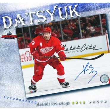 Pavel Datsyuk Detroit Red Wings 8 x 10 Autographed Photo
