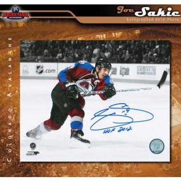 Joe Sakic Colorado Avalanche Autographed and HOF Inscribed 8 x 10 Photo