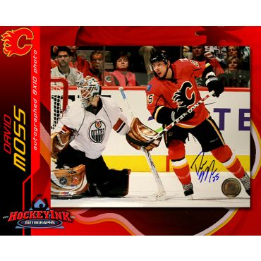 David Moss Calgary Flames 8 x 10 Autographed Photo
