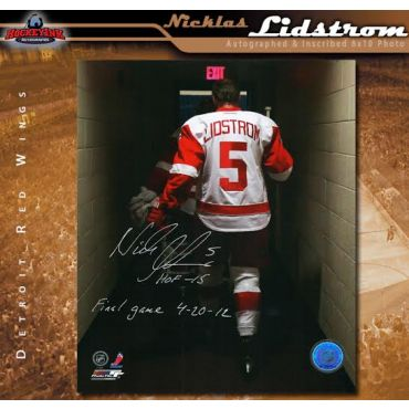 Nicklas Lidstrom Autographed and Inscribed Detroit Red Wings 8 x 10 Photo