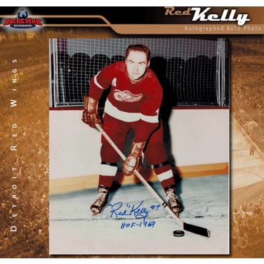 Red Kelly Detroit Red Wings 8 x 10 Autographed Photo