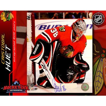 Cristobal Huet Chicago Blackhawks 8 x 10 Autographed Photo