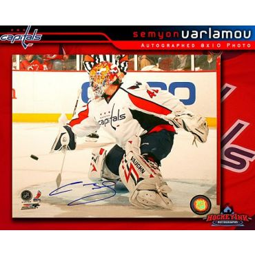 Semyon Varlamov Washington Capitals 8 x 10 Autographed Photo