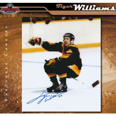 Tiger Williams Vancouver Canucks 8 x 10 Autographed Photo