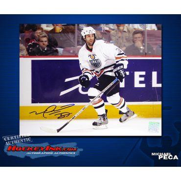 Michael Peca Edmonton Oilers 8 x 10 Autographed Photo
