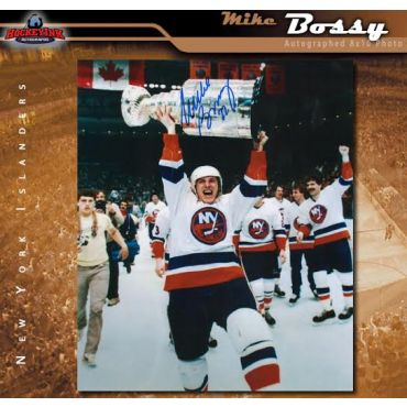 Mike Bossy with Stanely Cup New York Islanders 8 x 10 Autographed Photo