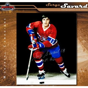 Serge Savard Montreal Canadiens Autographed 8 x 10 Photo