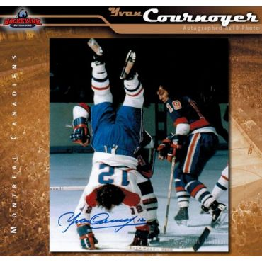 Yvan Cournoyer Montreal Canadiens 8 x 10 Autographed Photo
