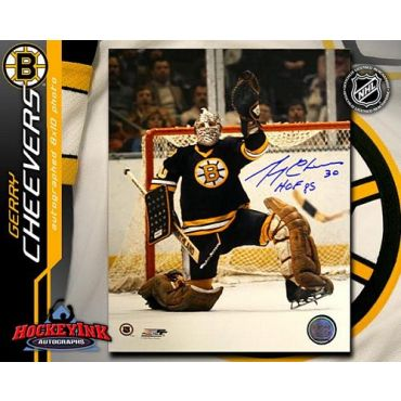 Gerry Cheevers Boston Bruins 8 x 10 Autographed Photo